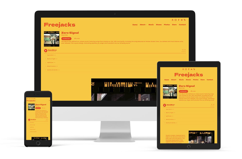 Band website template Signal