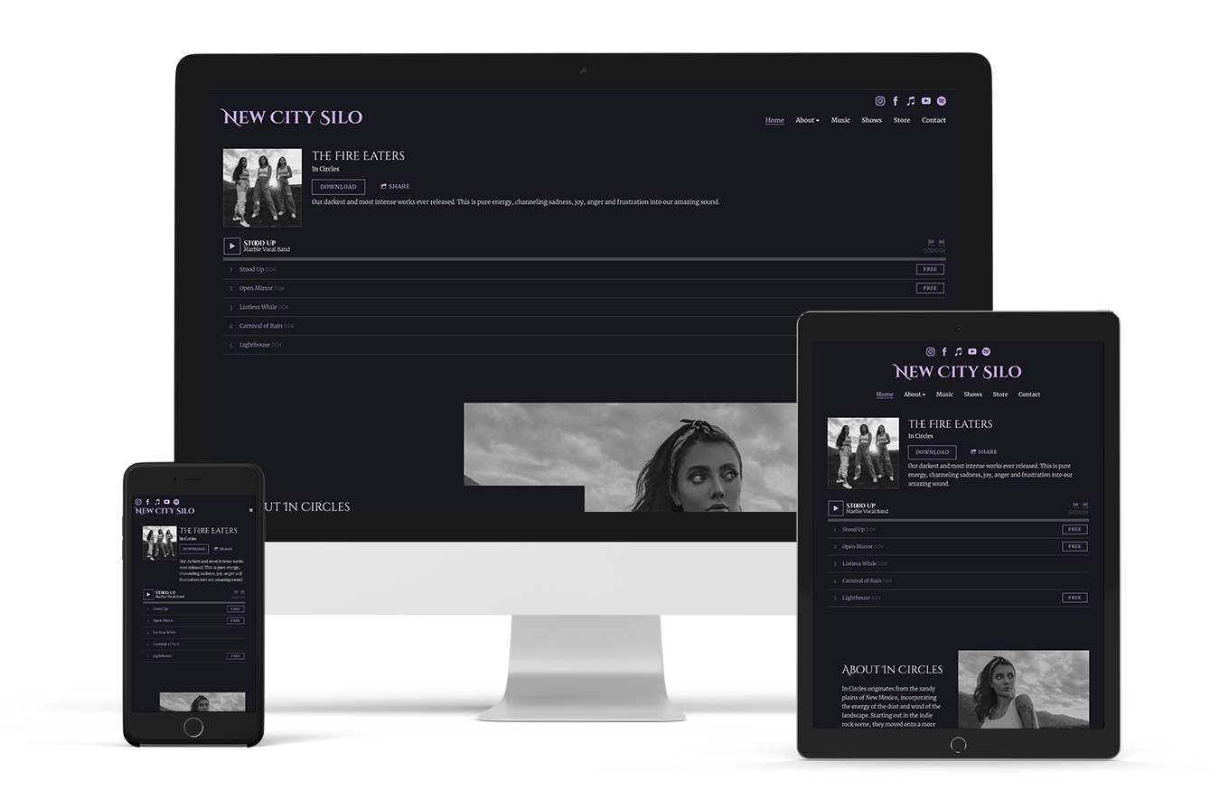 Band website template example Signal
