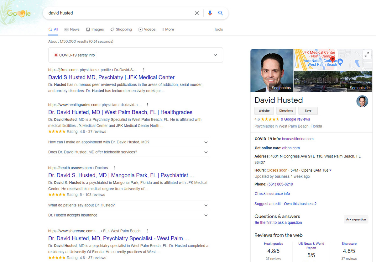 BZ Blog - SEO Keyword Research for Musicians - Common Name SERP