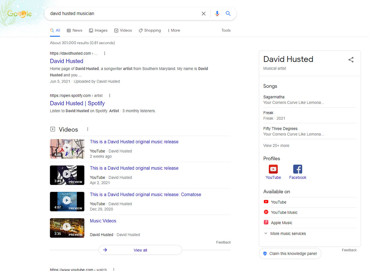 BZ Blog - SEO Keyword Research for Musicians - Common Name Refinement