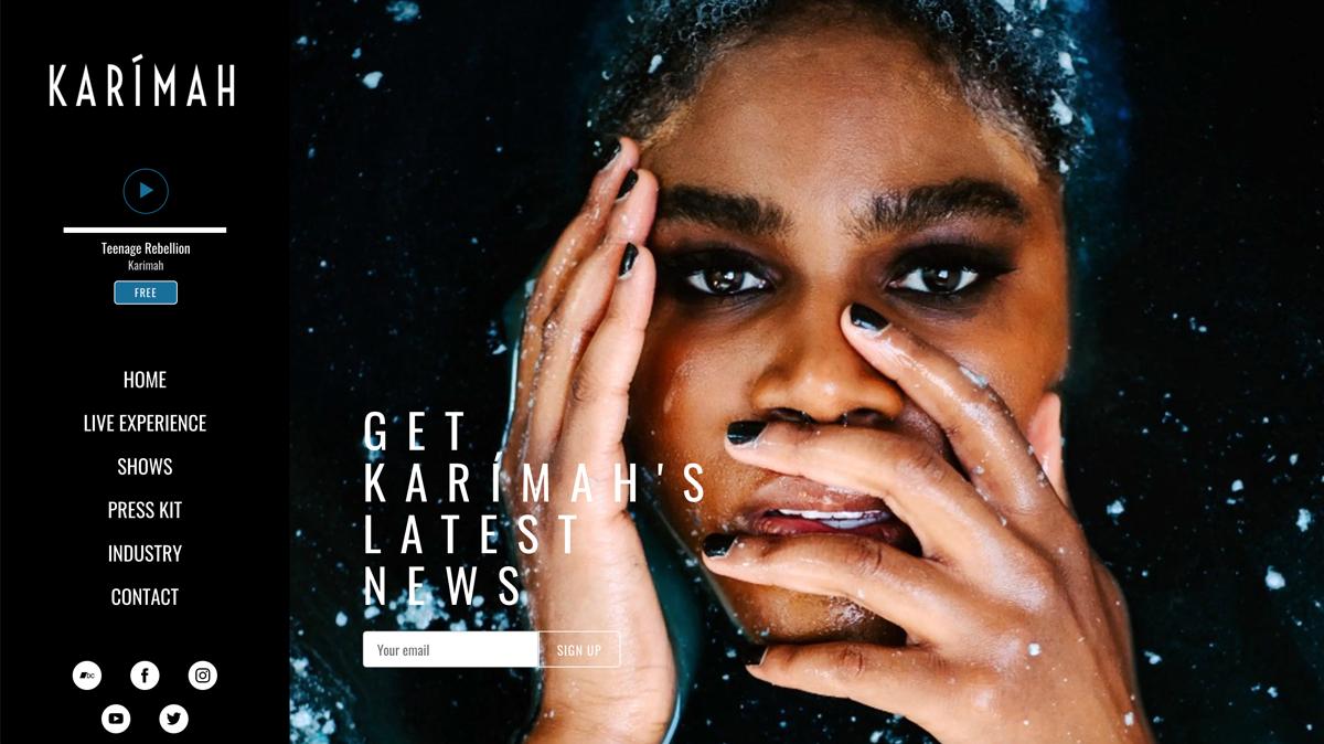 Bandzoogle Blog - 11 ways to use the music feature - Karmiah