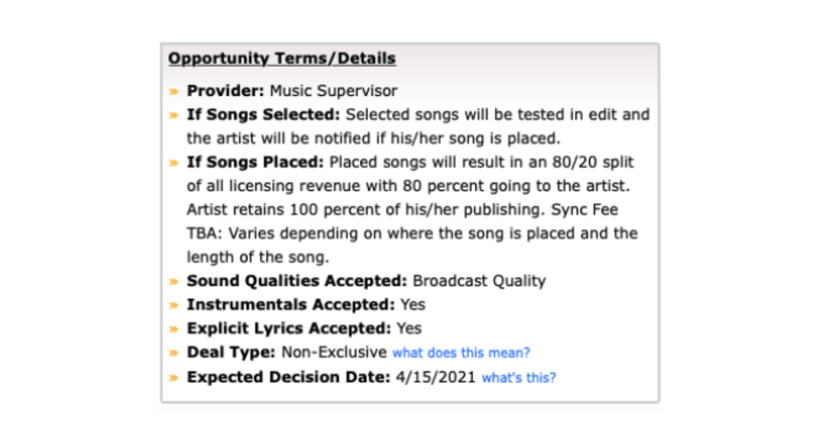 BZ Blog - 5 ways to prep your song for a licensing pitch - deal types