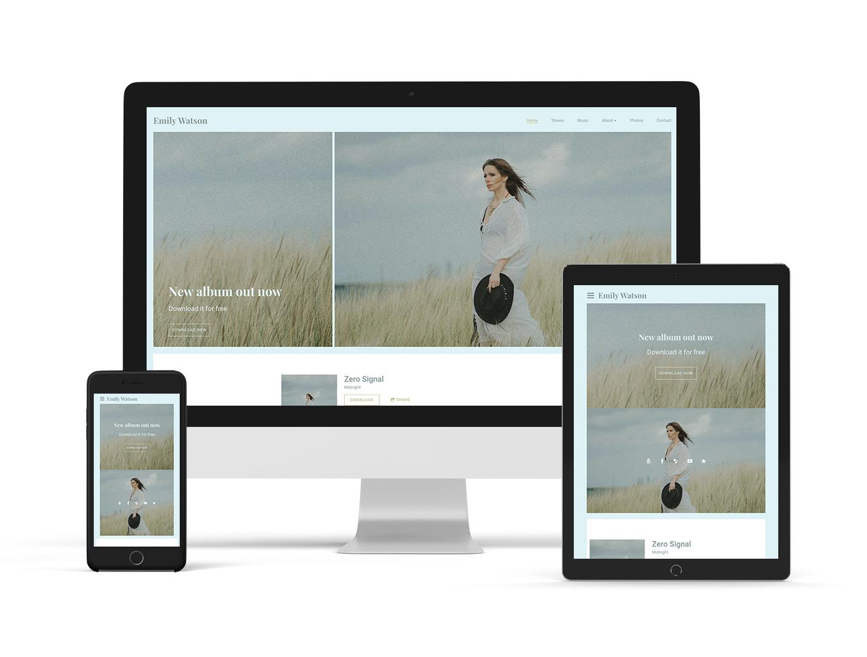 Sombre website template example: Breakbeat