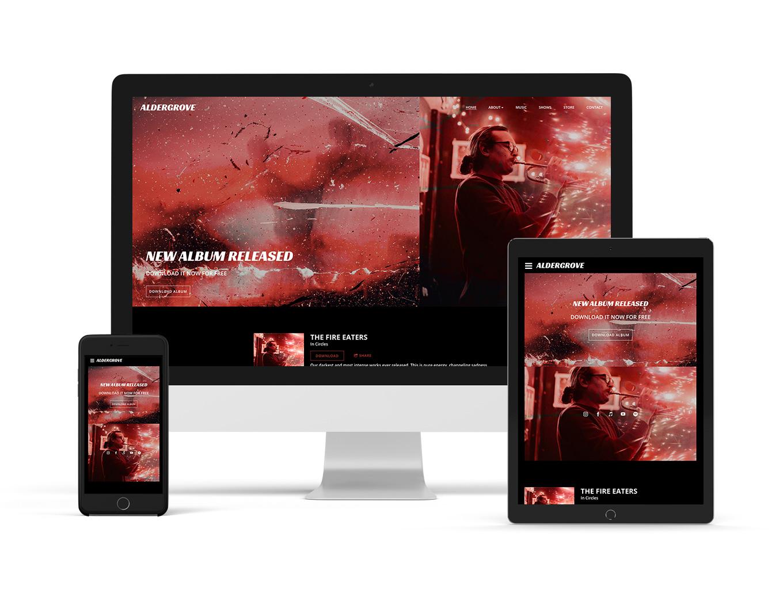 Playful website template example: Breakbeat
