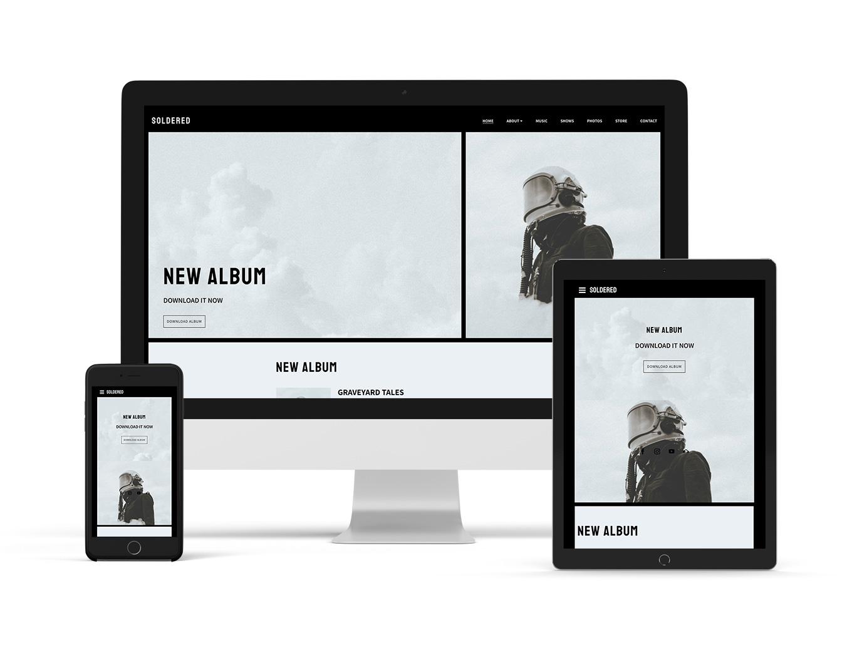 Elegant website template example: Breakbeat
