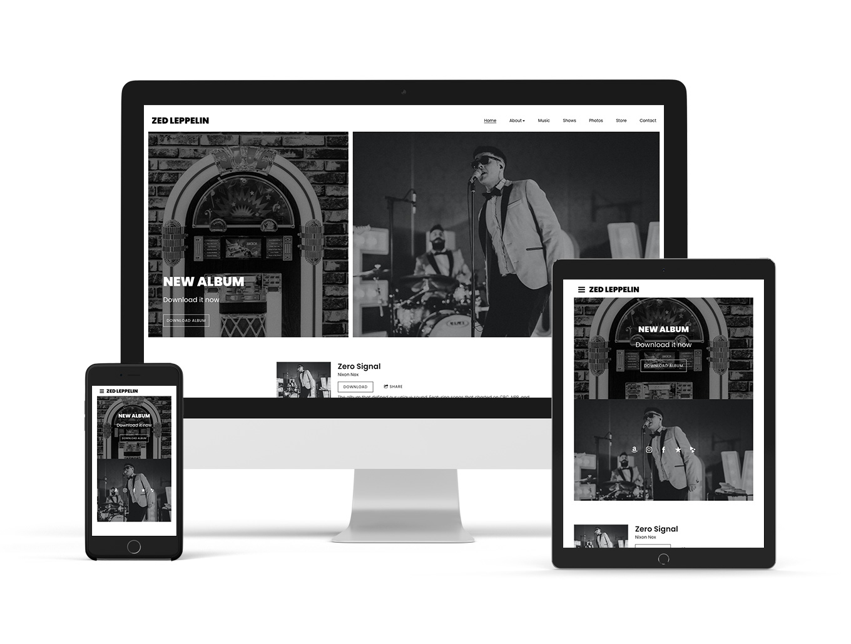Neutral website template example: Breakbeat