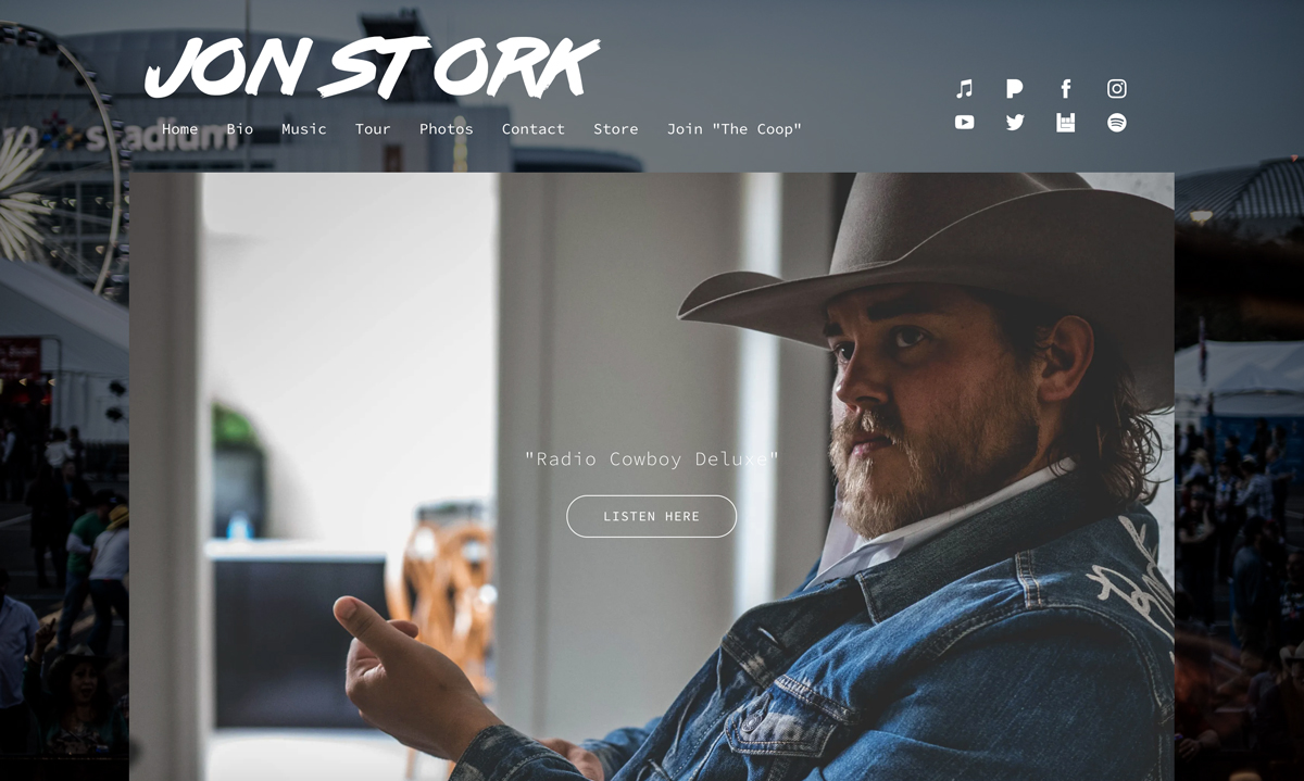 5 best website templates for country artists - Entourage
