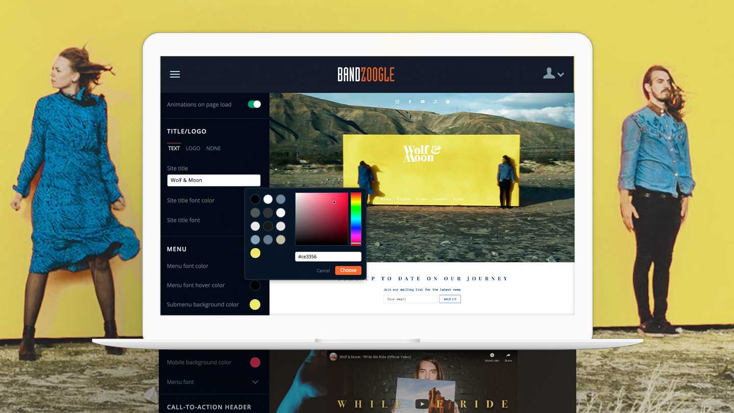 7 ways to create band website templates you'll love - Bandzoogle Blog - Main
