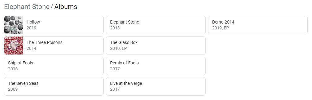 Bandzoogle Blog - Music SEO Know Your SERPS - Album Listing