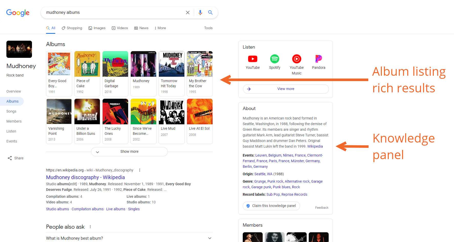 Bandzoogle Blog - Music SEO Know Your SERPs - General Album