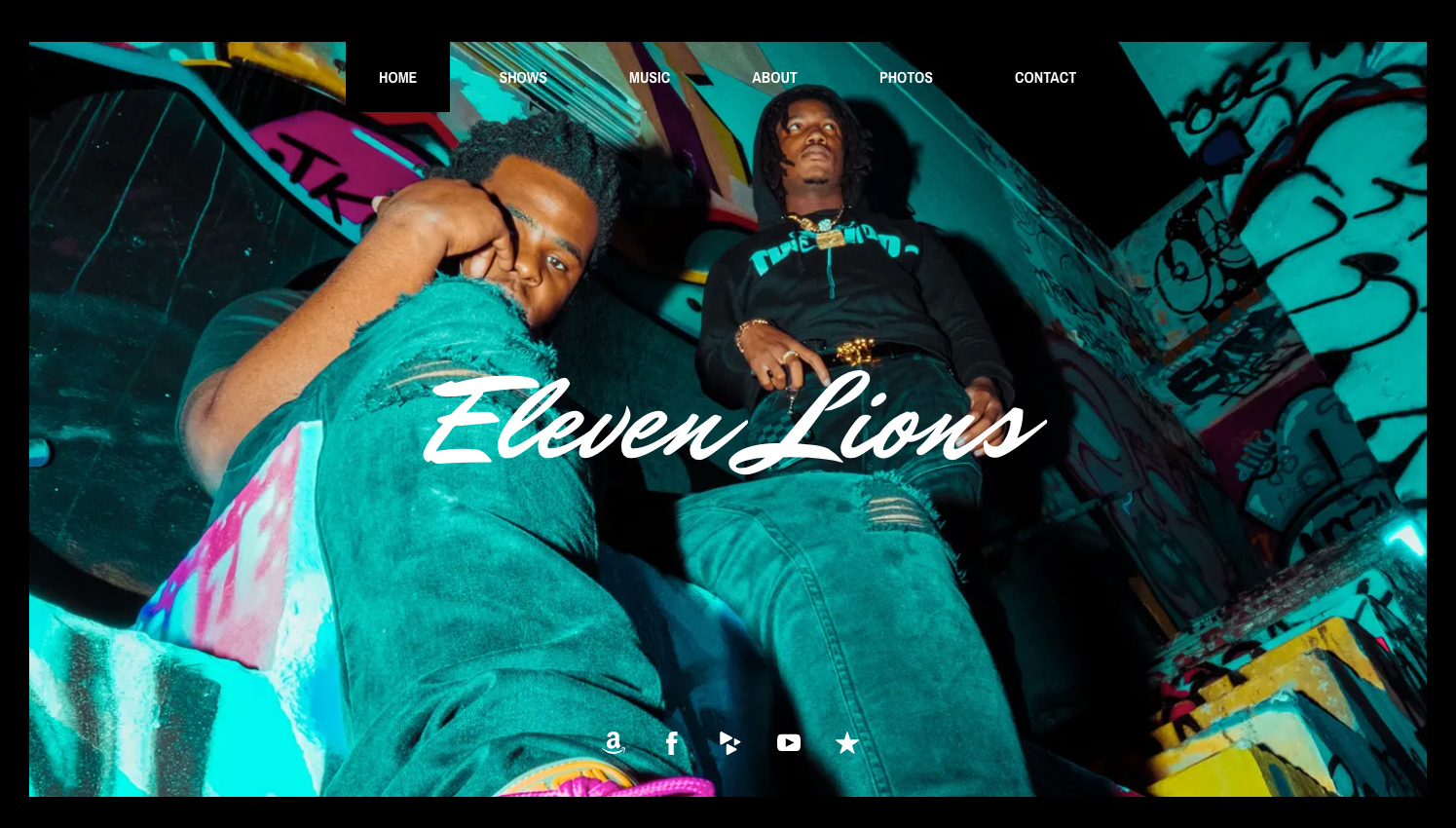 Band website template example: Nosi