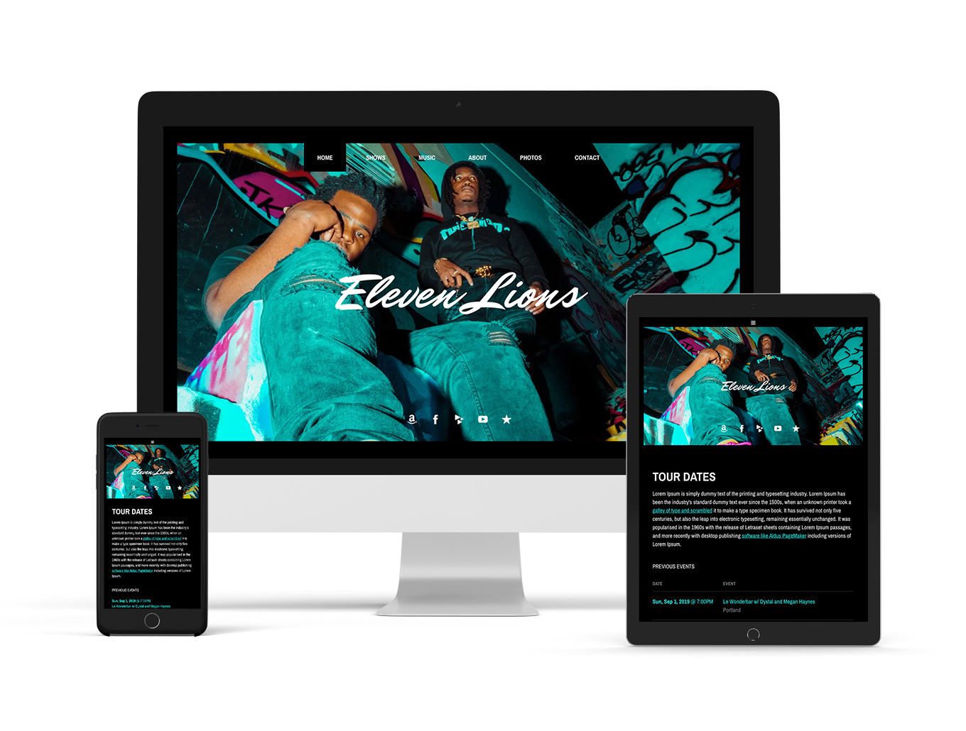 New website template playful example