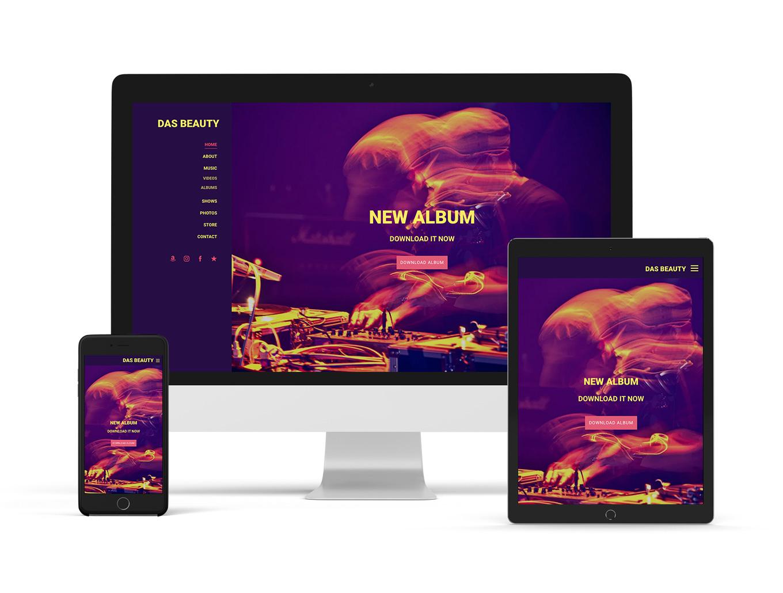 New music website template: Alto